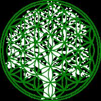 Blume des Lebens mit Baum