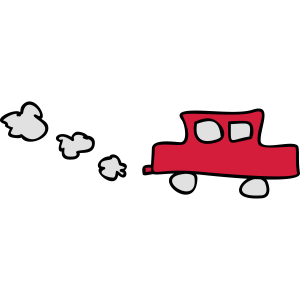 Kinderzeichnungen: Tufftuff-Auto