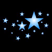 Sterne in Blau
