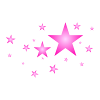 Sterne in Pink