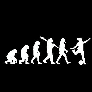 Evolution Fussball Frau Geschenkidee