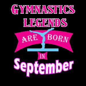 Gymnastiklegenden werden im September Geschenk geboren