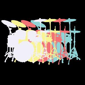 Schlagzeug retro Farben