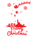 Frohe Weihnachten mit Weihnachtsman, Christmas