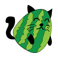 Katze als Zucchini