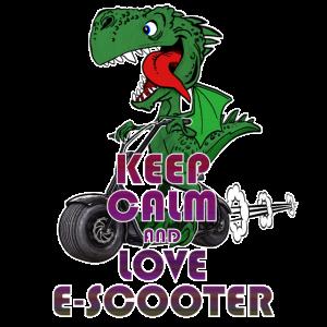 Escooter Drache Electricscooter Keep Calm