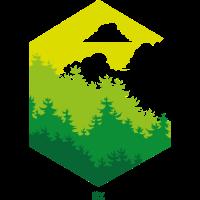 Wald Sechseck grün