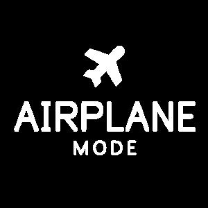 Flugmodus AN Airplane Mode ON Vielflieger Geschenk