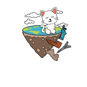 Katze lustig Geschenk in Tasche Spruch