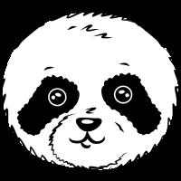 Panda Pandakopf