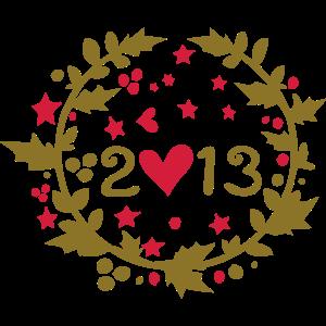 2013 verlässt Stechpalme Weihnachtsdekoration