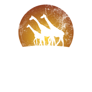 Giraffenherde Savanne Steppe Afrika