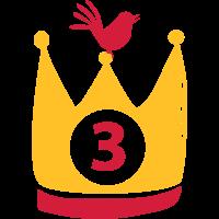 Krone 3 mit Vogel