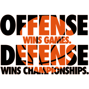 Offense wins games. Defense wins championships