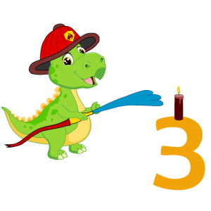 Feuerwehr Dino 3 Geburtstag