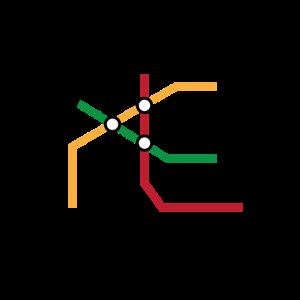 Urbanistische U-Bahn Karte - Design.