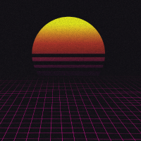 Sunrise / Sunset Retro Wave Design