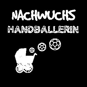 Nachwuchs Handballerin Geschenk Geburt Kinder Baby
