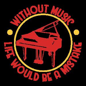 Piano und musik spruch - Geschenk