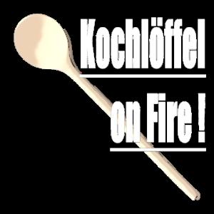 Kochloeffel on Fire Gastro Geschnek idee