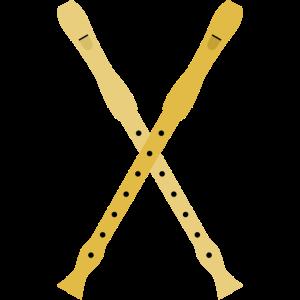 gekreuzte Blockflöten