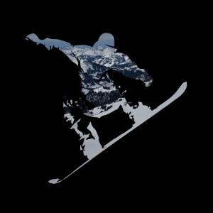 Snwoboard Berglandschaft T Shirt Geschenk