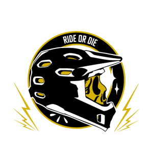 Downhill Ride or die Schädel Helm