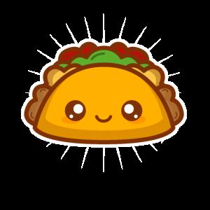 Niedlicher Kawaii Art-Tacoentwurf Geschenk-Tacos-Liebhaber