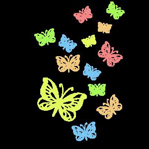 Schmetterlinge pastellfarben