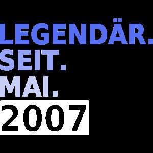 Legendär seit Mai 2007 Geburtsjahr Geburtstag 12.