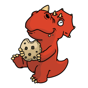 Dino mit Keks