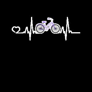Fahrrad Herzschlag Fahrradfahren Rad Geschenk