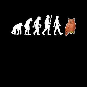 Glubschi Eule Lustig Evolution Uhu Vogel Geschenk