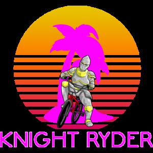 KNIGHT RYDER - MEDIEVAL BMX BIKER RETRO SUNSET 80s