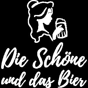 Die Schöne Und Das Bier Trinken Party Geschenk