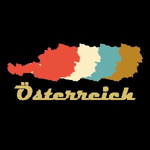 Oesterreich Landeskarte Vintage Geschenk