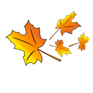 Fallende Ahornblätter im Herbst