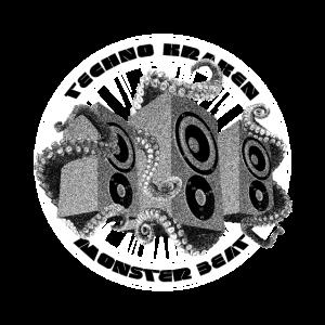 Monster Beat Techno Krake Sound Lautsprecher Shirt