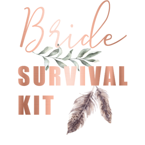 Boho Bride Survival Kit Braut Rettung Notfall