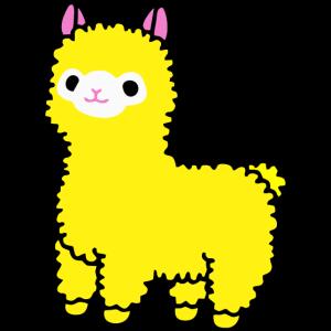Alpaka - Cute Yellow Alpaca Graphic Illustration