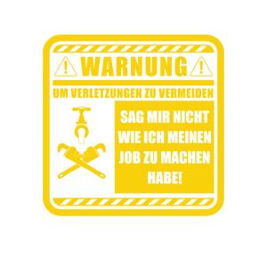 Klempner Warnung