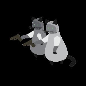 Katze Waffe Lustige Tiere