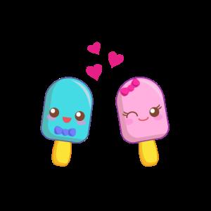 Eis, ice cream cute ice, Liebe, Valentinstag, love