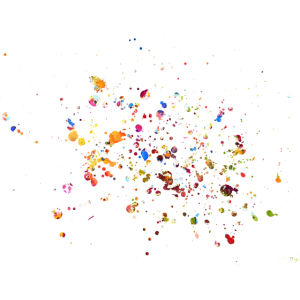 Farbkleks Fabkleckse bunt und farbig