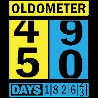 50 fünfzigster - Geburtstag - Oldometer - Shirt