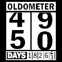 50 fünfzigster - Geburtstag - Oldometer - Shir