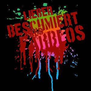 Lieber beschmiert als farblos Graffiti (rot)