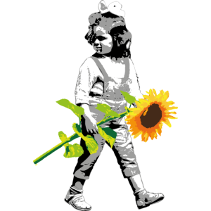 Blumenkind | Mädchen mit Sonnenblume