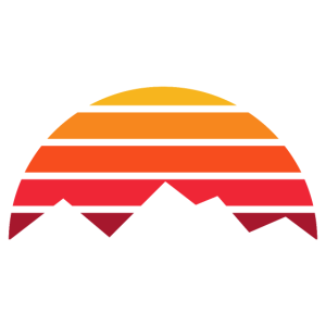 Berge mit Sonnenuntergang