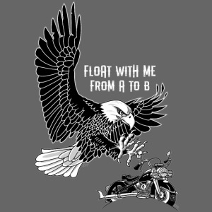 Float with me from a to b zwartwit op zwart
